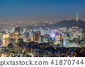 Night view of Seoul Downtown cityscape 41870744