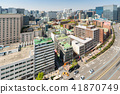 myeongdong Downtown cityscape in South Korea 41870749