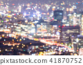 Abstract blurrred background of  Seoul Downtown  41870752