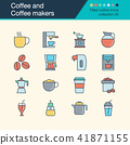 Coffee and Coffee makers icons.  41871155