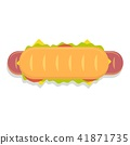 hot dog sandwich icon 41871735