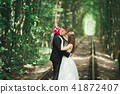 bride, forest, wedding 41872407