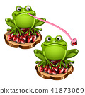 vector tongue toad 41873069