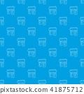 Triumphal arch pattern vector seamless blue 41875712