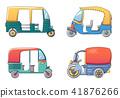 tuk, rickshaw, thailand 41876266
