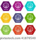 Basketball icons set 9 vector 41876540