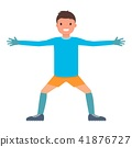 Lateral hands goalkeeper icon, flat style 41876727