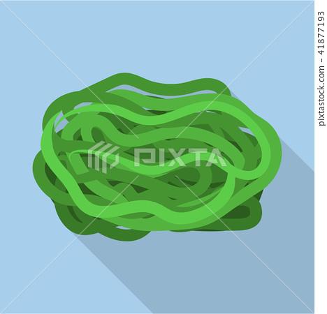 Sea kale icon, flat style 41877193