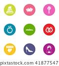 Money wedding icons set, flat style 41877547