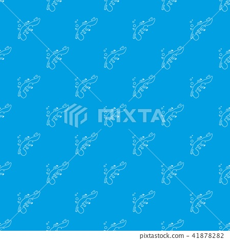 Swimming lizard pattern vector seamless blue 41878282