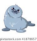 Sad walrus icon, cartoon style 41878657