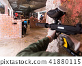 Paintball player targeting in opponents 41880115