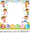 "Children's frame ""SCHOOL"" 41883647"