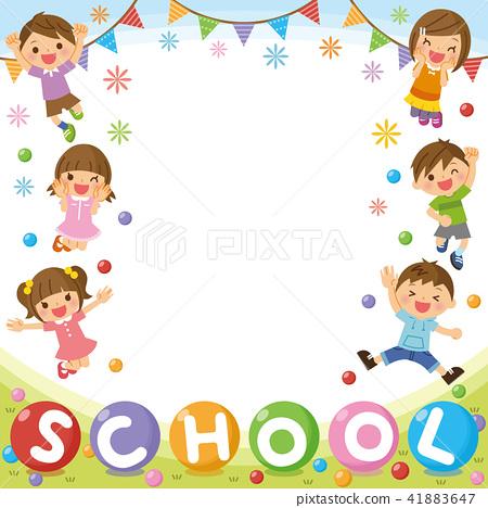 """兒童框架""""學校"""" 41883647"""