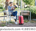 woman, female, traveller 41885963