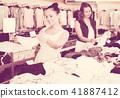 women, two, shopping 41887412