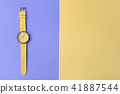 close up of yellow wrist watches for background 41887544