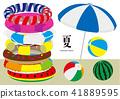 เวกเตอร์ภาพประกอบออกแบบฤดูร้อนลูกบอลชายหาดชายหาดฤดูร้อนสระว่ายน้ำร่มชายหาด 41889595