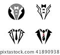 Tuxedo logo vector template 41890938