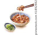 natto, fermented soybeans, chopstick 41892662