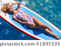 bikini, female, surfboard 41895505