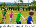 School children having a good time playing-around 41895741