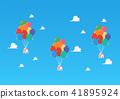 Balloon houses on blue sky 41895924