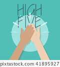 High Five Illustration 41895927