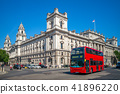 street view of london with double decker bus 41896220