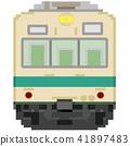 전차, 전철, 흰색 배경 41897483