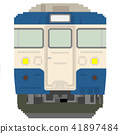 white background, dot picture, electric train 41897484