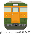 white background, dot picture, electric train 41897485