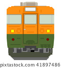 white background, dot picture, electric train 41897486