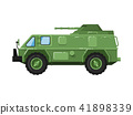 Modern army truck isolated icon 41898339