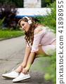 young, music, headphones 41898955
