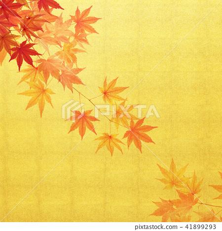 Japanese - Background - Goldfoil - Autumn - autumn leaves 41899293