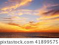아침 놀 구름 쿠지 浜海岸 이바라키 현 히타치시 41899575