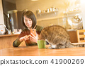 cat drink water 41900269