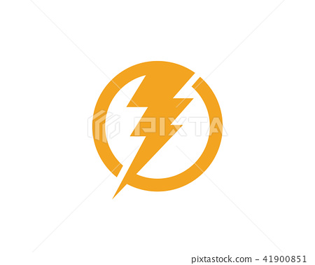 Lightning Logo Template vector icon - ภาพประกอบสต็อก