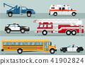 City emergency transport isolated set 41902824