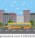 school, bus, landscape 41902828