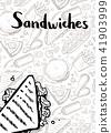 sandwich, pizza, vintage 41903999