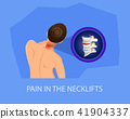 Pain in Necklifts. Vector Illustration. 41904337