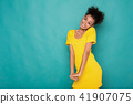 Beautiful african-american woman shy and confused 41907075