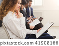 Job interview line, business people group 41908166