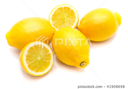 Fresh lemon isolated on white 41908698