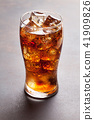 Cola glass with ice 41909826