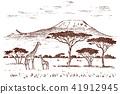 landscape, vector, animal 41912945