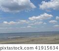 blue sky, clear sky, white cloud 41915634