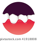 牙齒 齒輪 口香糖 41918808